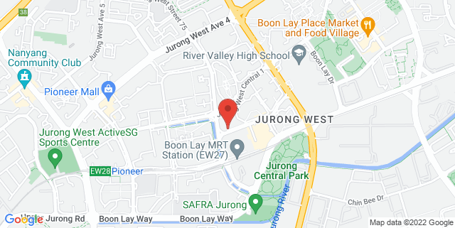 Map showing Jurong West Public Library