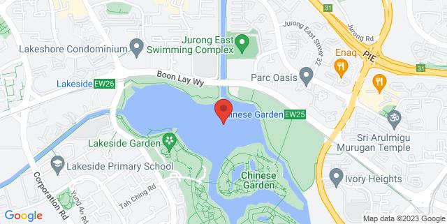 Map showing Jurong Lake