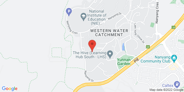Map showing Nanyang Technological University