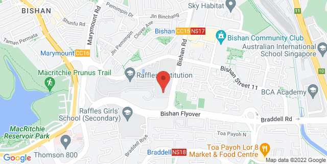 Map showing Raffles Institution LT2