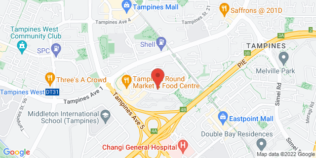 Map showing Tampines Changkat Community Centre