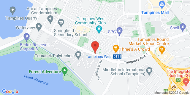 Map showing The Glasgow School of Art Singapore SIT@TP