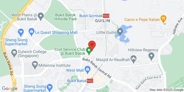 Map showing Bukit Batok Civil Service Club