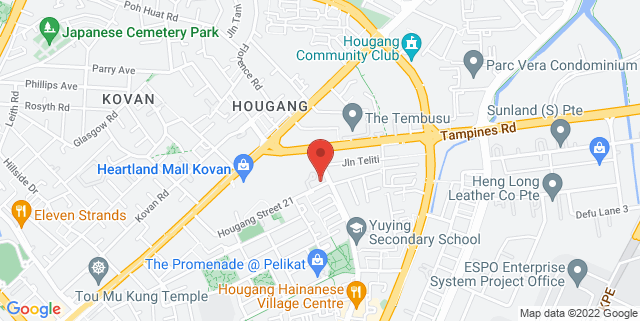 Map showing Kovan Sports Centre