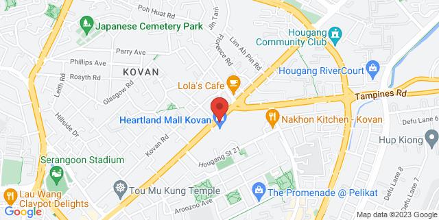 Map showing Kovan MRT Station