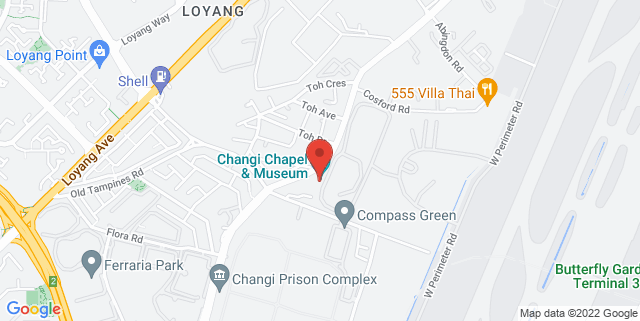 Map showing The Changi Museum
