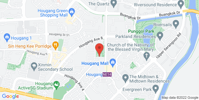 Map showing Punggol Community Club