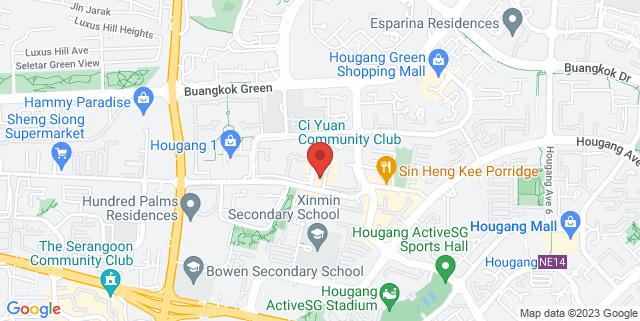 Map showing Ci Yuan Community Club