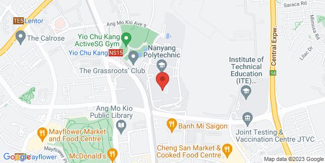 Map showing Nanyang Polytechnic
