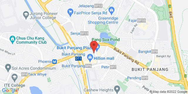 Map showing Bukit Panjang Plaza