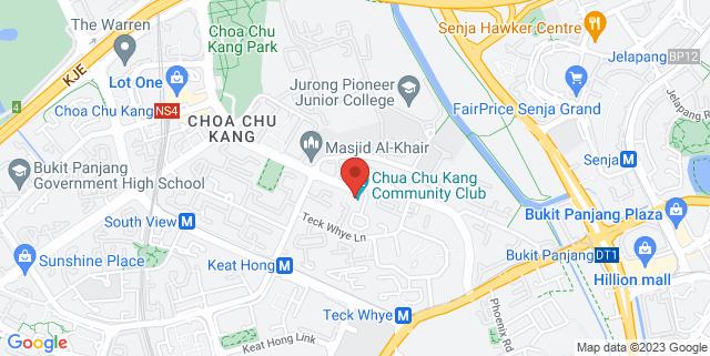 Map showing Chua Chu Kang Community Club