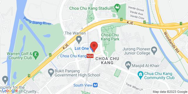 Map showing Choa Chu Kang Public Library
