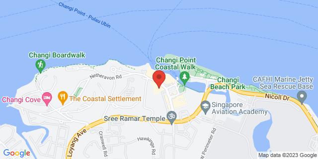 Map showing Village Hotel Changi