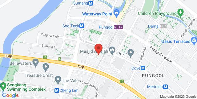 Map showing Punggol Ripples, Block 211A