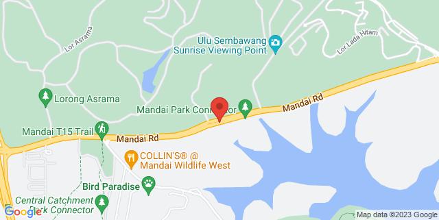 Map showing Mandai