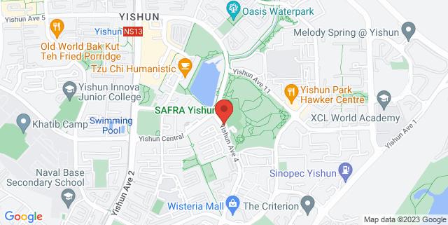Map showing SAFRA Yishun