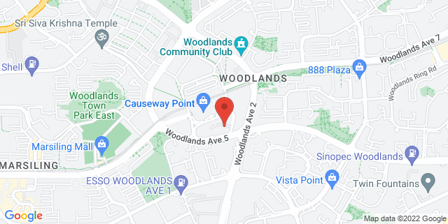 Map showing Woodlands Regional Library