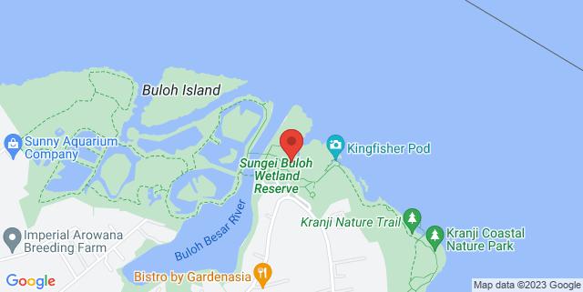 Map showing Sungei Buloh Wetland Reserve