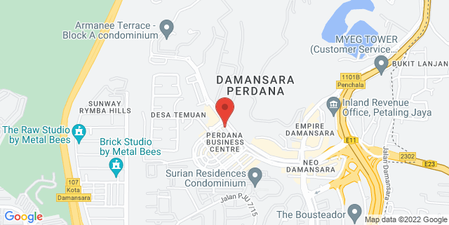 Map showing Ecommerce Office