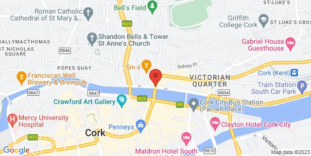Map showing Angra Wine & Spirit Showroom