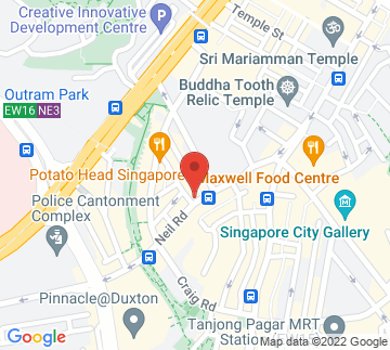 Map showing NUS Baba House