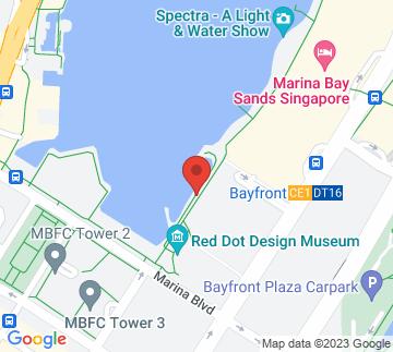Map showing Marina Bay Waterfront Promenade