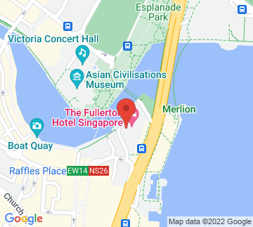 Map showing The Fullerton Hotel
