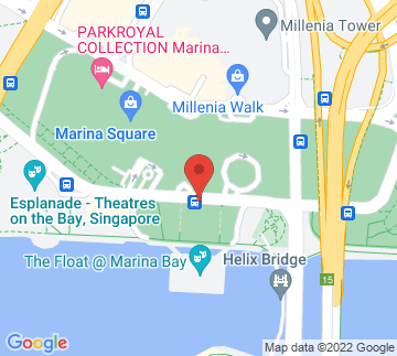 Map showing The Float @ Marina Bay