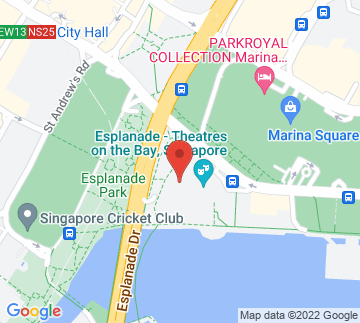 Map showing Esplanade Theatre
