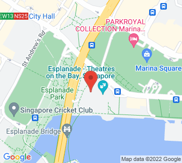 Map showing Esplanade Recital Studio