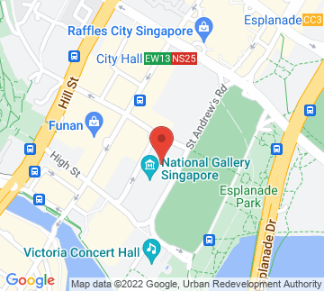 Map showing National Gallery Singapore