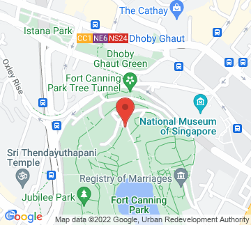 Map showing Fort Canning Park