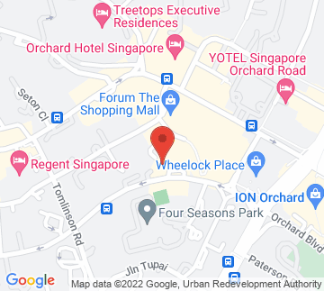 Map showing Four Seasons Hotel