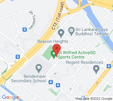 Map showing St Wilfred Sports Complex
