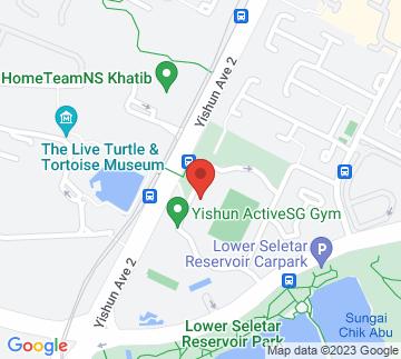 Map showing Yishun Stadium