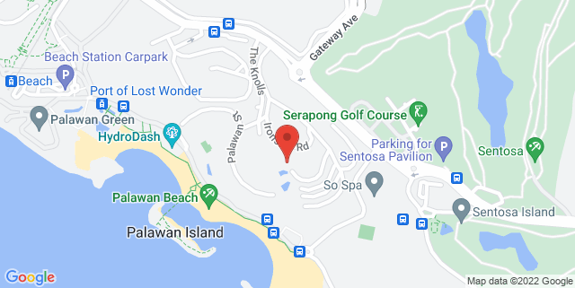 Map showing Capella Hotel Singapore