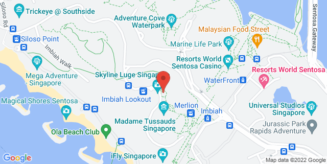 Map showing Tiger Sky Tower