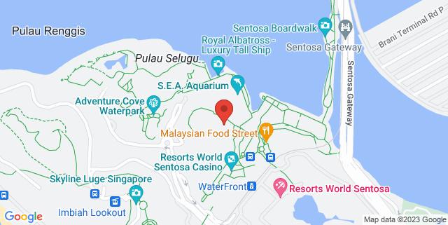 Map showing Hard Rock Cafe
