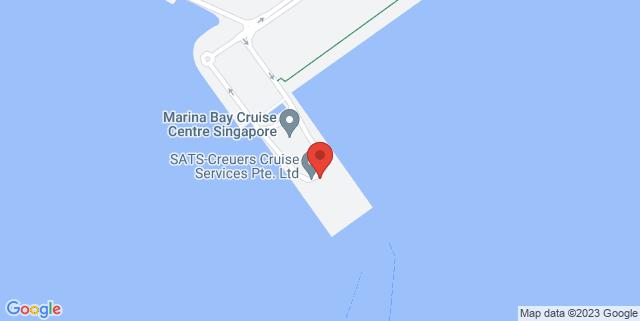 Map showing Marina Bay Cruise Centre