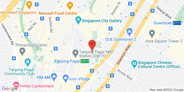 Map showing Maxwell Chambers