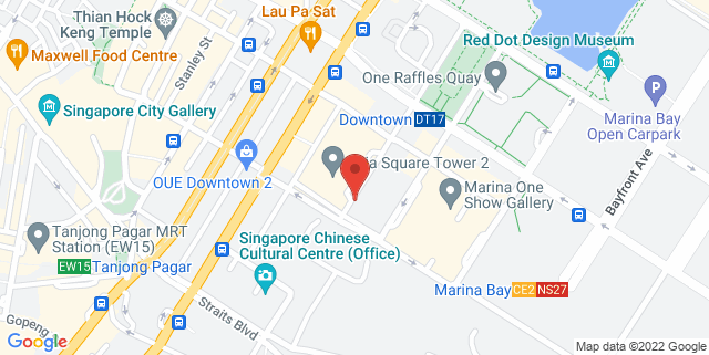 Map showing The Westin Singapore