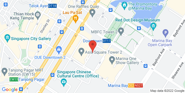 Map showing Huobi Headquarters