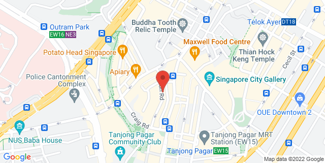 Map showing 34 Duxton Road