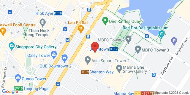 Map showing Google's Office, Level 29, Comic Sans