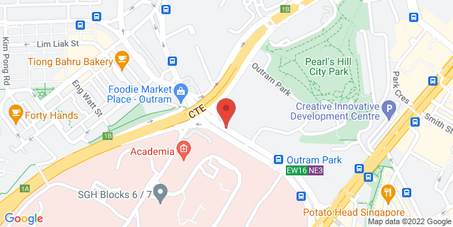 Map showing Singapore General Hospital