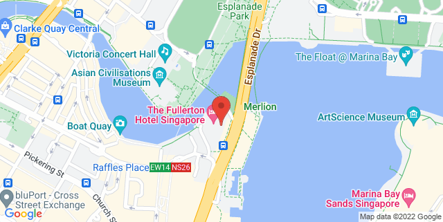 Map showing Clifford Square, Fullerton Bay