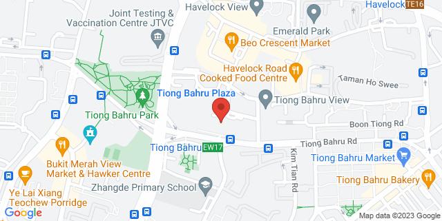 Map showing Golden Village Tiong Bahru