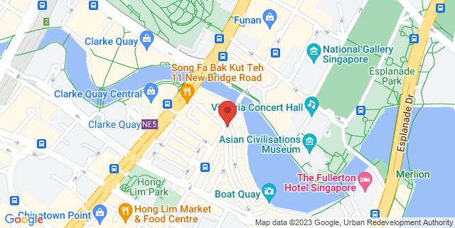 Map showing Actors The Jam Bar