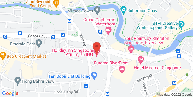 Map showing Holiday Inn Hotel