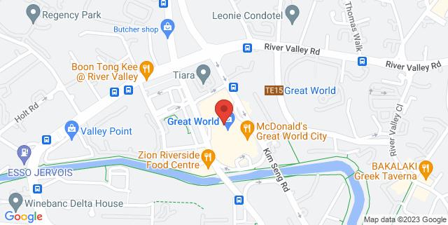 Map showing Golden Village Grand